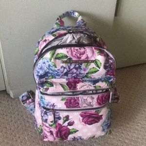 New Betsey Johnson small roses backpack cute